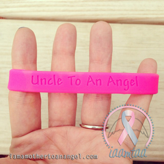 Wristband - Uncle To An Angel - Hot Pink