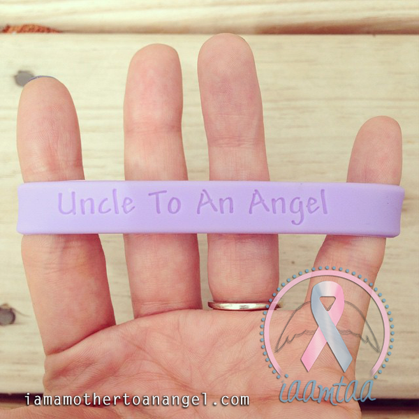 Wristband - Uncle To An Angel - Lavender