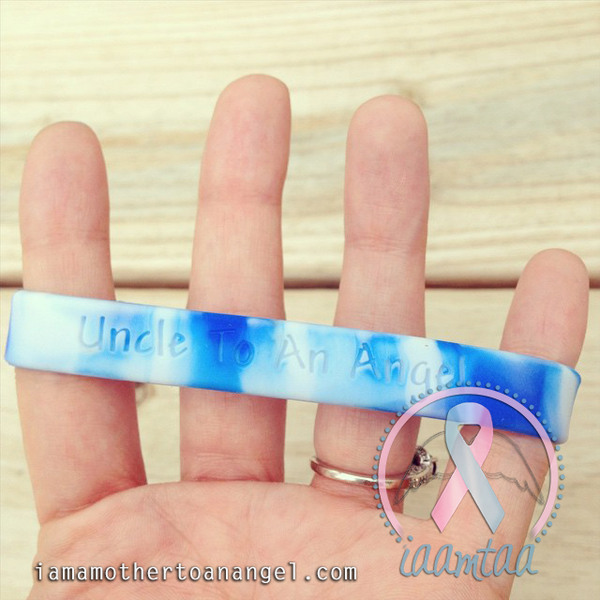 Wristband - Uncle To An Angel - Blue/White