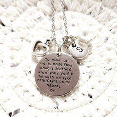 Handprint On My Heart Necklace - discounted due to quote error