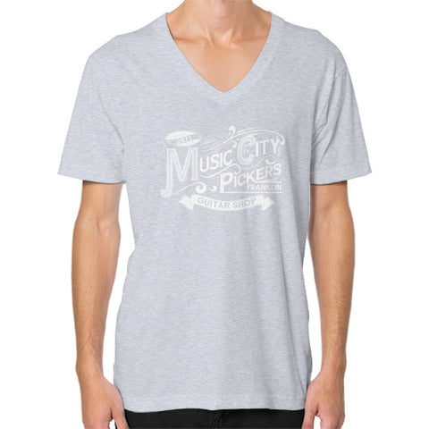 V-Neck (on man)- White Logo