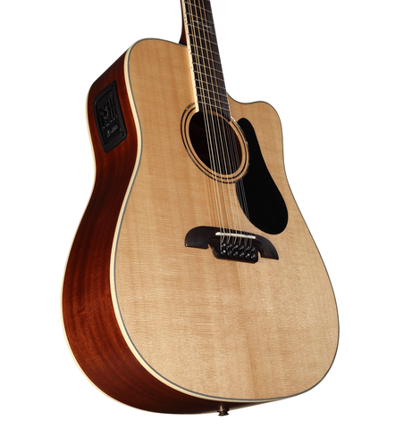 Alvarez AD60-12CE Artist 60 Series Dreadnought 12-String Electric w/ Padded Gig Bag (SKU 5547)
