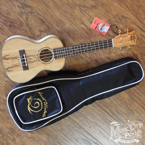 NEW Amahi Snail Ukulele Spalted Maple Concert (SKU 5138)