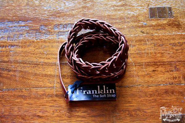 Franklin Straps Burgundy Leather Mandolin 7-BU