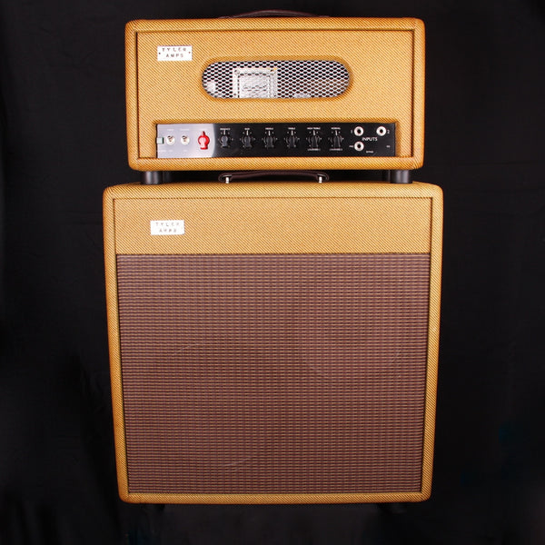 NEW Tyler Amp Works JT46 Head & 10/12 Oversized Cab Tweed (SKU 6219CK)
