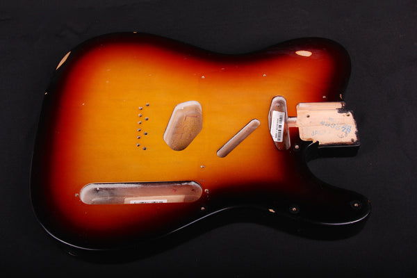 2013 Fender '64 Relic Replacement Telecaster Sunburst Body (SKU 6045K)
