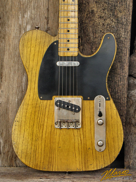 New Mario Martin T-Style Custom Built Electric Guitar- Vintage Amber (SKU 4419)