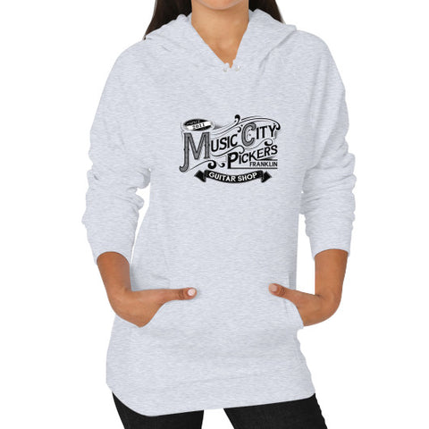 Hoodie (on woman) - Black Logo