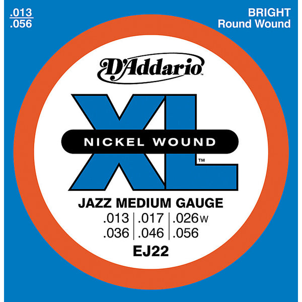 D'Addario EJ22 13/56 Electric Strings