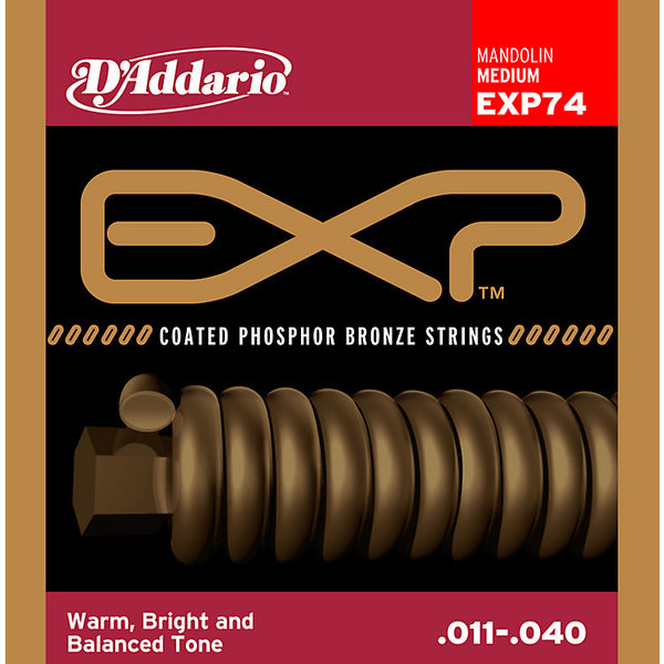 D'Addario EXP74 Coated Phosphor Bronze Mandolin Strings
