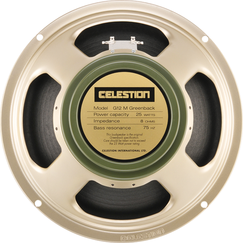 NEW Celestion Greenback G12M 8 OHM 25 Watt (SKU 5346C)