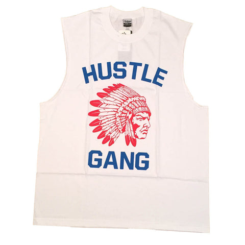 The Game White/Red Muscle Tee