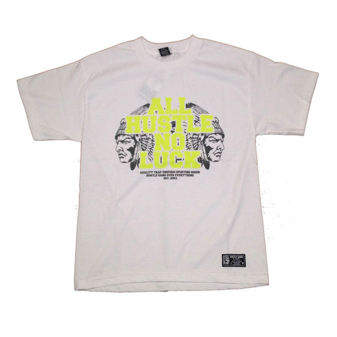 All Hustle White/Green Tee