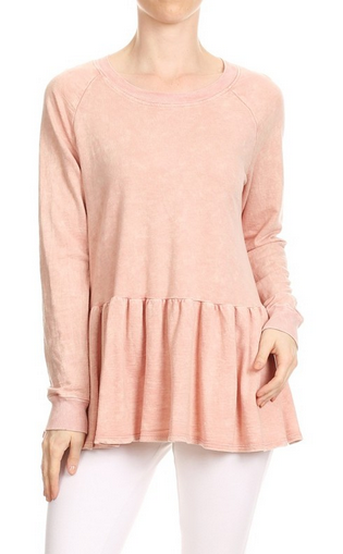 Ruffle Bottom Sweatshirt