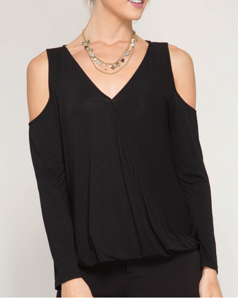 Elegant Surplice Top