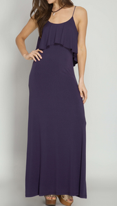 Ruffle Top Maxi Dress