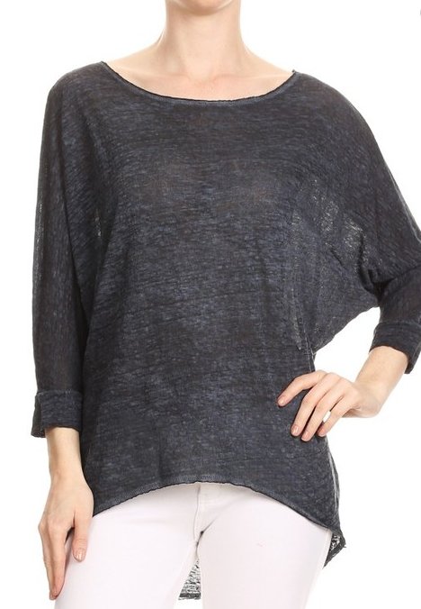 Linen Burnout Top