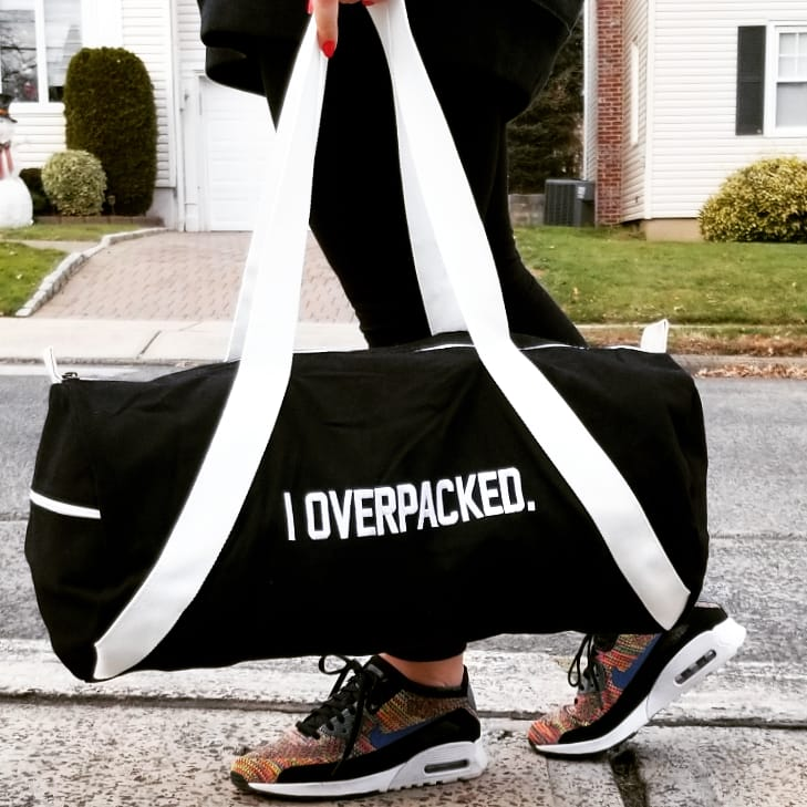 duffle bag: i overpacked