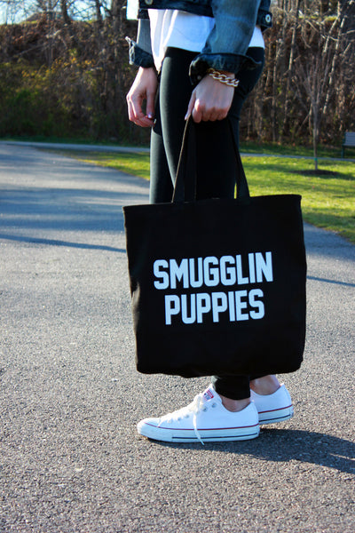 tote: puppies