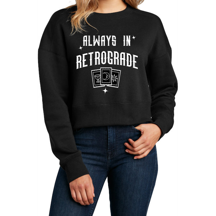 crop crewneck: don't bother me