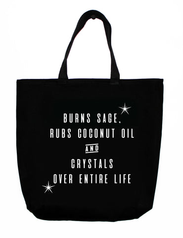 shopping tote: on repeat