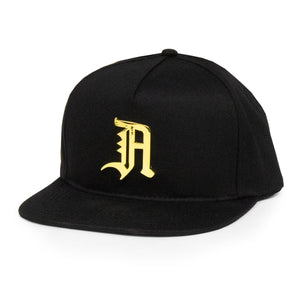 24K OLD ENGLISH SNAPBACK (BLACK)