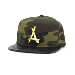 24K PRESIDENTIAL (CAMO + LEATHER BRIM)