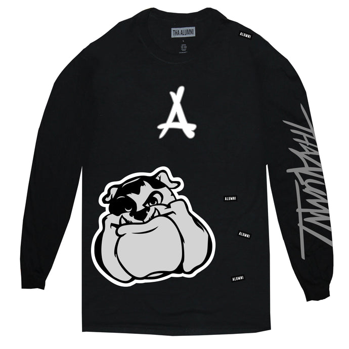 AOP LONG SLEEVE TEE (BLACK)