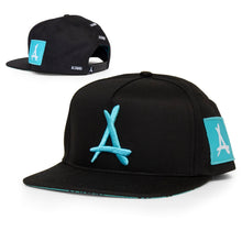 Load image into Gallery viewer, AOP SNAPBACK (BLACK + MINT)