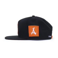 Load image into Gallery viewer, AOP SNAPBACK (BLACK + ORANGE)