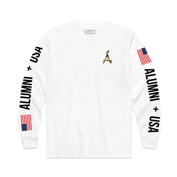 ALUMNI + USA LONG SLEEVE TEE