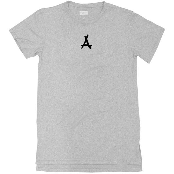 BASIC EXTENDED LOGO TEE (LIGHT GREY)