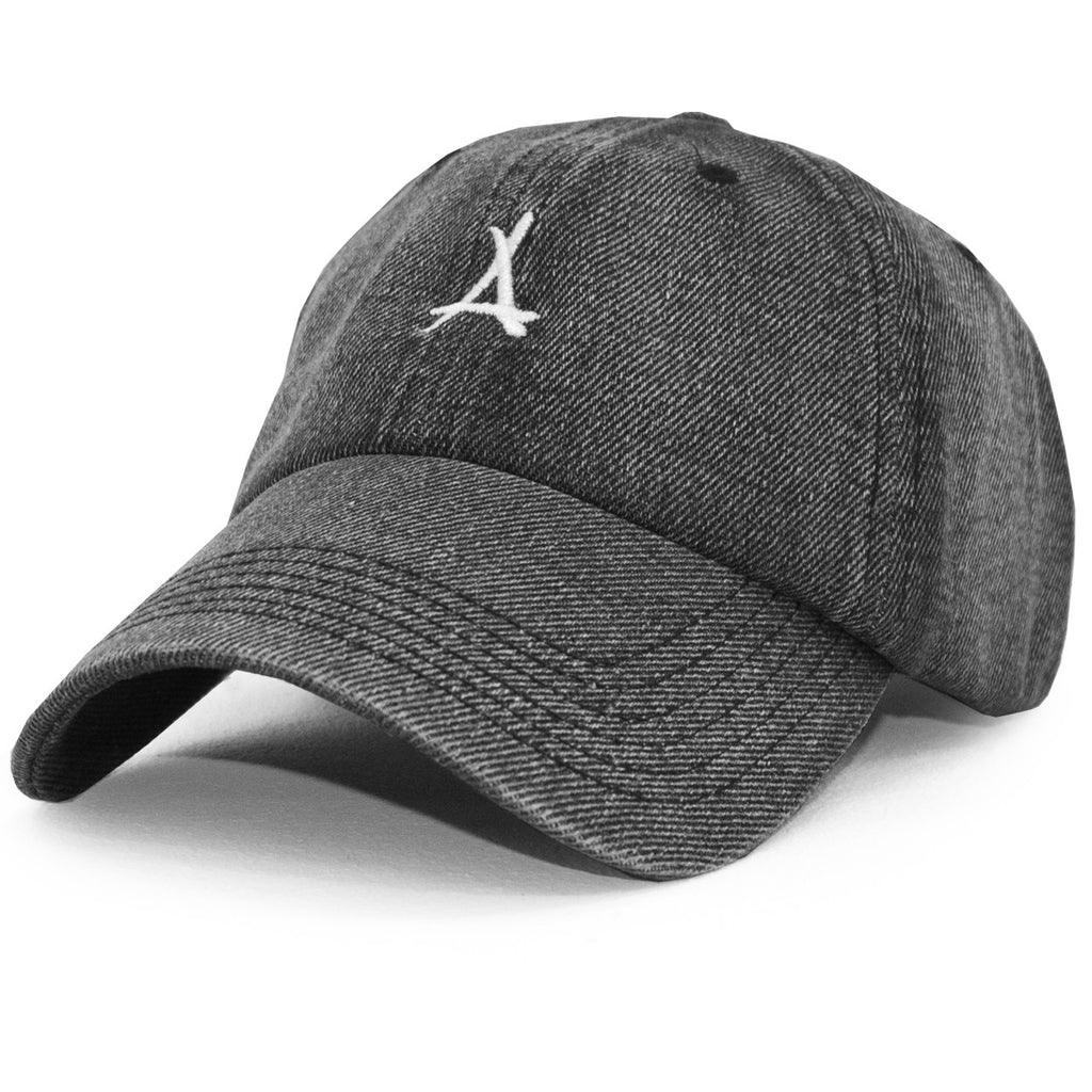 LOGO DAD HAT (BLACK DENIM)