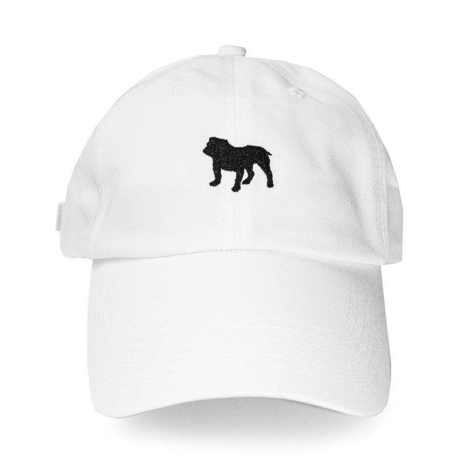 BULLDOG MASCOT DAD HAT (WHITE)