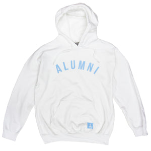 COLLEGIATE HOODIE (WHITE + CAROLINA BLUE)