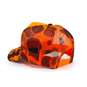 DUCK CAMO FOAM TRUCKER  (HUNTER ORANGE)