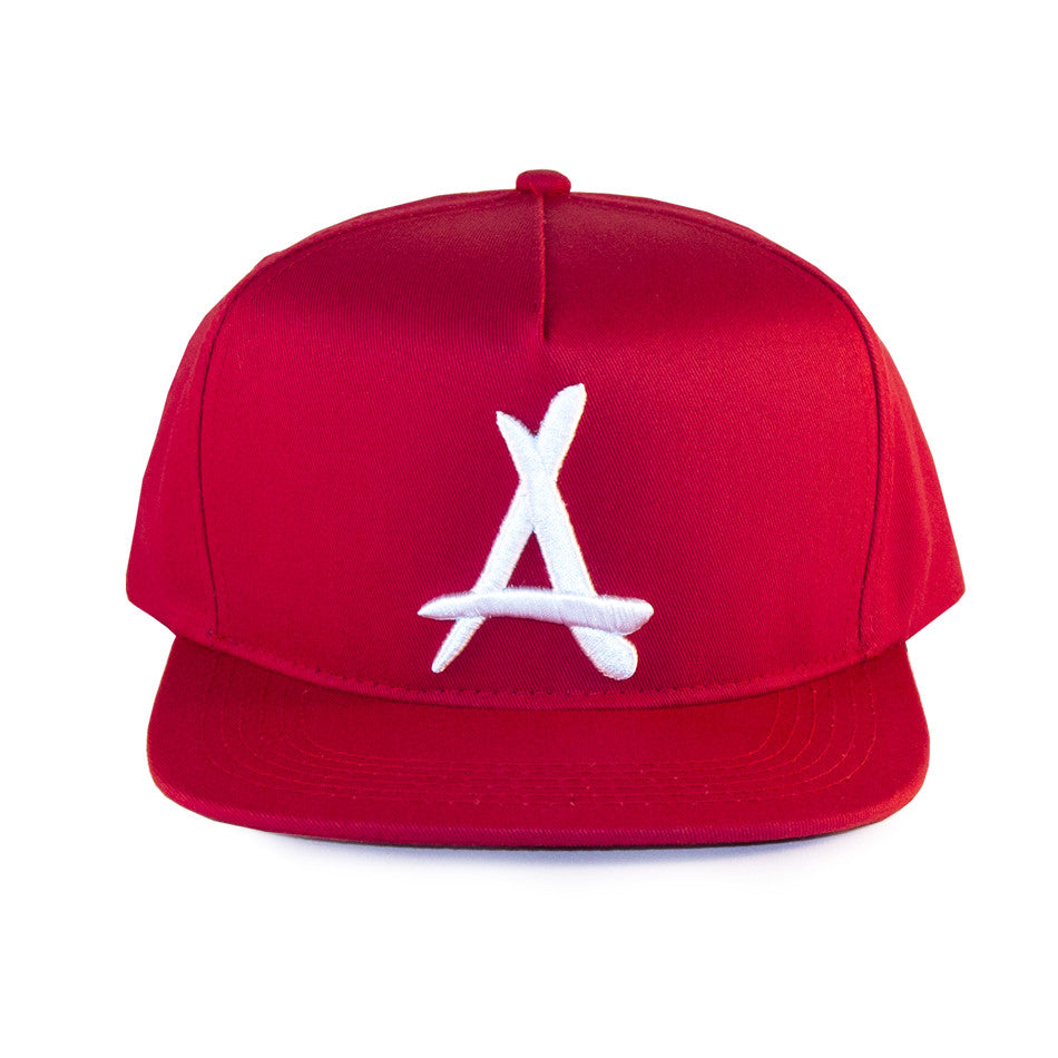 "CLASSIC ""A"" SNAPBACK (RED + WHITE)"
