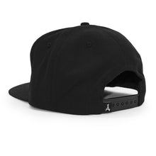 "Load image into Gallery viewer, CLASSIC ""A"" SNAPBACK (BLACK + FLAT)"