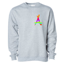 Load image into Gallery viewer, RAINBOW CREWNECK (ATHLETIC GREY)