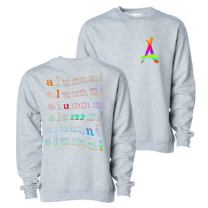 RAINBOW CREWNECK (ATHLETIC GREY)