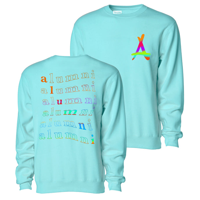 RAINBOW CREWNECK (MINT)