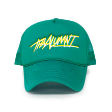 Load image into Gallery viewer, THA ALUMNI FOAM TRUCKER (TEAL/YELLOW)