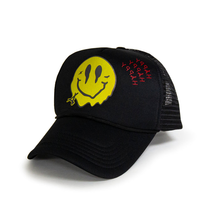 SMILEY FOAM TRUCKER  (BLK/BLK)