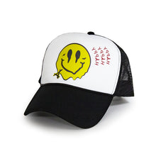 Load image into Gallery viewer, SMILEY FOAM TRUCKER  (WHT/BLK)