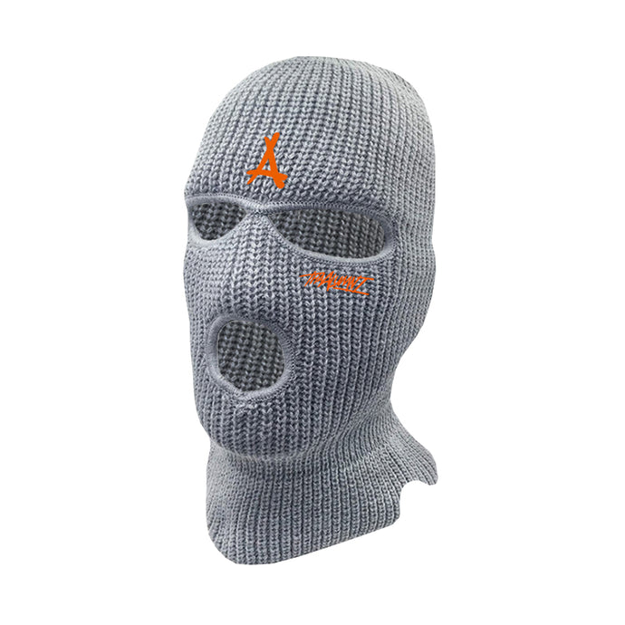 SQUAD SKI MASK (GREY + ORANGE)