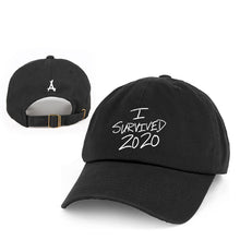 Load image into Gallery viewer, I SURVIVED 2020 DAD HAT (BLACK)