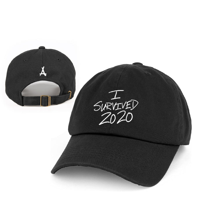 I SURVIVED 2020 DAD HAT (BLACK)