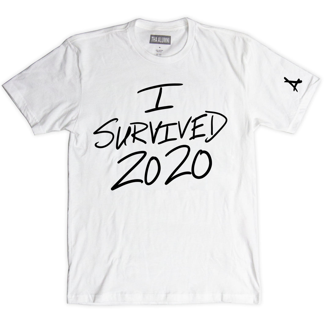 I SURVIVED 2020 OVERSIZE TEE (WHITE)