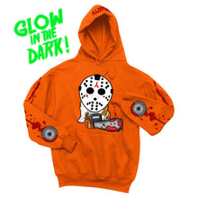 Load image into Gallery viewer, JASON 5K CHAINSAW HOODIE (ORANGE)