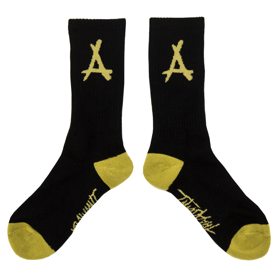 ALUMNI LOGO SOCKS (BLACK + GOLD)